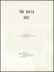 Page 5, 1952 Edition, Rova High School - Rovan Yearbook (Oneida, IL) online yearbook collection