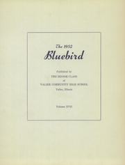 Page 9, 1952 Edition, Valier High School - Bluebird Yearbook (Valier, IL) online yearbook collection