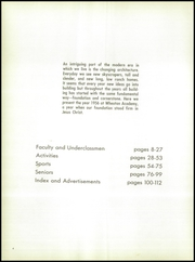 Page 8, 1956 Edition, Wheaton Academy - Compass Yearbook (Wheaton, IL) online yearbook collection
