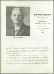 Page 12, 1944 Edition, Western Military Academy - Recall Yearbook (Alton, IL) online yearbook collection