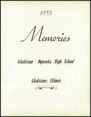 Page 5, 1953 Edition, Gladstone Oquawka High School - Memories Yearbook (Gladstone, IL) online yearbook collection