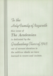 Page 10, 1945 Edition, Holy Family Academy - Academian Yearbook (Chicago, IL) online yearbook collection