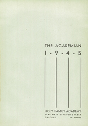 Page 5, 1945 Edition, Holy Family Academy - Academian Yearbook (Chicago, IL) online yearbook collection