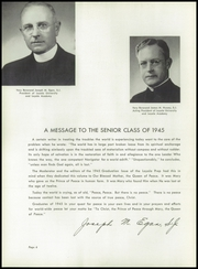 Page 10, 1945 Edition, Loyola Academy - Grad Prep Yearbook (Chicago, IL) online yearbook collection