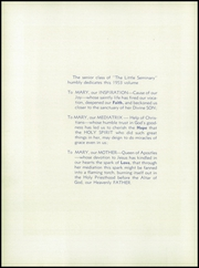 Page 8, 1953 Edition, Quigley Preparatory Seminary - La Petit Seminaire Yearbook (Chicago, IL) online yearbook collection