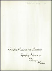 Page 5, 1954 Edition, Quigley Preparatory Seminary - La Petit Seminaire Yearbook (Chicago, IL) online yearbook collection