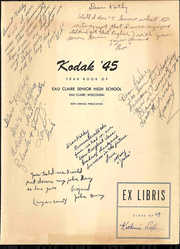 Page 3, 1945 Edition, Eau Claire High School - Kodak Yearbook (Eau Claire, WI) online yearbook collection