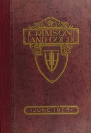 1928 Edition, Townsend Harris High School - Crimson Gold Yearbook (Flushing, NY)