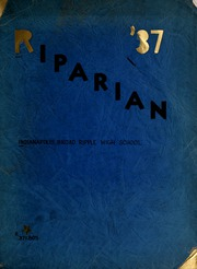 Broad Ripple High School - Riparian Yearbook (Indianapolis, IN) online yearbook collection, 1937 Edition, Page 1