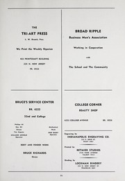 Page 75, 1945 Edition, Broad Ripple High School - Riparian Yearbook (Indianapolis, IN) online yearbook collection