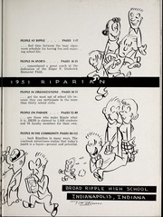 Page 7, 1951 Edition, Broad Ripple High School - Riparian Yearbook (Indianapolis, IN) online yearbook collection