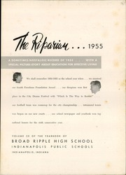 Page 7, 1955 Edition, Broad Ripple High School - Riparian Yearbook (Indianapolis, IN) online yearbook collection