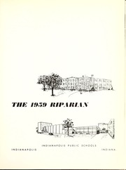 Page 5, 1959 Edition, Broad Ripple High School - Riparian Yearbook (Indianapolis, IN) online yearbook collection