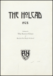 Page 7, 1923 Edition, Rushville High School - Holcad Yearbook (Rushville, IN) online yearbook collection
