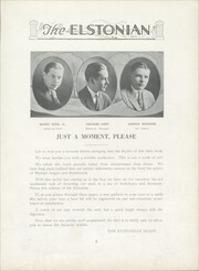 Page 9, 1924 Edition, Elston High School - Elstonian Yearbook (Michigan City, IN) online yearbook collection