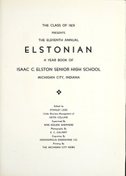 Page 7, 1931 Edition, Elston High School - Elstonian Yearbook (Michigan City, IN) online yearbook collection