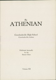 Page 7, 1924 Edition, Crawfordsville High School - Athenian Yearbook (Crawfordsville, IN) online yearbook collection