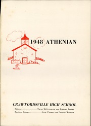 Page 5, 1948 Edition, Crawfordsville High School - Athenian Yearbook (Crawfordsville, IN) online yearbook collection
