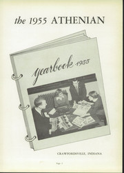 Page 7, 1955 Edition, Crawfordsville High School - Athenian Yearbook (Crawfordsville, IN) online yearbook collection