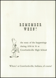 Page 5, 1959 Edition, Crawfordsville High School - Athenian Yearbook (Crawfordsville, IN) online yearbook collection