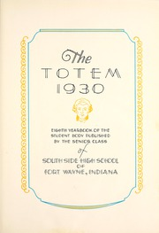 Page 9, 1930 Edition, South Side High School - Totem Yearbook (Fort Wayne, IN) online yearbook collection