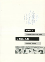 Page 5, 1963 Edition, Anderson High School - Indian Yearbook (Anderson, IN) online yearbook collection