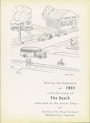 Page 7, 1951 Edition, Shelbyville High School - Squib Yearbook (Shelbyville, IN) online yearbook collection