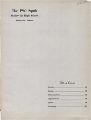 Page 5, 1960 Edition, Shelbyville High School - Squib Yearbook (Shelbyville, IN) online yearbook collection