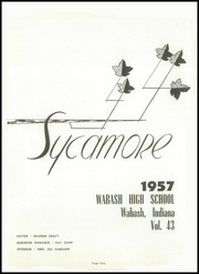 Page 5, 1957 Edition, Wabash High School - Sycamore Yearbook (Wabash, IN) online yearbook collection