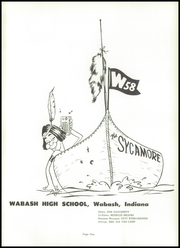 Page 5, 1958 Edition, Wabash High School - Sycamore Yearbook (Wabash, IN) online yearbook collection