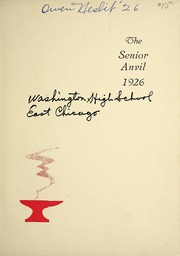 Page 5, 1926 Edition, Washington High School - Anvil Yearbook (East Chicago, IN) online yearbook collection