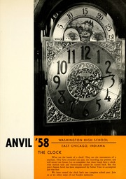 Page 5, 1958 Edition, Washington High School - Anvil Yearbook (East Chicago, IN) online yearbook collection