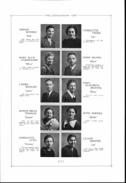 Page 12, 1937 Edition, Concord High School - Concordian Yearbook (Elkhart, IN) online yearbook collection