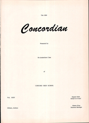 Page 5, 1955 Edition, Concord High School - Concordian Yearbook (Elkhart, IN) online yearbook collection