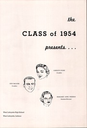Page 5, 1954 Edition, West Lafayette High School - Scarlet and Gray Yearbook (West Lafayette, IN) online yearbook collection