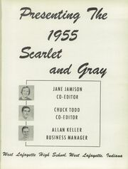 Page 5, 1955 Edition, West Lafayette High School - Scarlet and Gray Yearbook (West Lafayette, IN) online yearbook collection