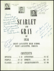 Page 5, 1956 Edition, West Lafayette High School - Scarlet and Gray Yearbook (West Lafayette, IN) online yearbook collection