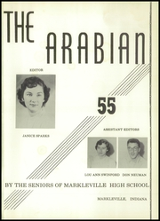 Page 5, 1955 Edition, Markleville High School - Arabian Yearbook (Markleville, IN) online yearbook collection