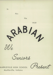 Page 5, 1959 Edition, Markleville High School - Arabian Yearbook (Markleville, IN) online yearbook collection