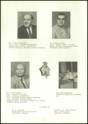 Page 10, 1958 Edition, Lacrosse High School - Tiger Tracks Yearbook (Lacrosse, IN) online yearbook collection