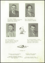Page 9, 1958 Edition, Lacrosse High School - Tiger Tracks Yearbook (Lacrosse, IN) online yearbook collection