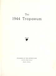 Page 5, 1944 Edition, Butler High School - Tropaeum Yearbook (Butler, IN) online yearbook collection