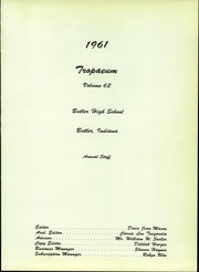Page 5, 1961 Edition, Butler High School - Tropaeum Yearbook (Butler, IN) online yearbook collection