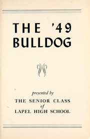 Page 5, 1949 Edition, Lapel High School - Bulldog Yearbook (Lapel, IN) online yearbook collection