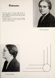 Page 7, 1951 Edition, Union High School - Gold U Yearbook (Dugger, IN) online yearbook collection