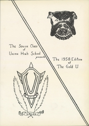 Page 5, 1958 Edition, Union High School - Gold U Yearbook (Dugger, IN) online yearbook collection