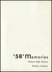 Page 5, 1958 Edition, Hobart Senior High School - Memories Yearbook (Hobart, IN) online yearbook collection