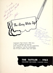 Page 7, 1963 Edition, Logansport High School - Tattler Yearbook (Logansport, IN) online yearbook collection
