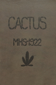 Page 1, 1922 Edition, Marion High School - Cactus Yearbook (Marion, IN) online yearbook collection