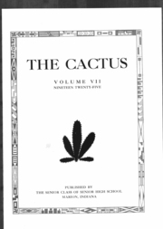 Page 6, 1925 Edition, Marion High School - Cactus Yearbook (Marion, IN) online yearbook collection